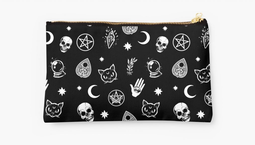 witch-pattern-pouch