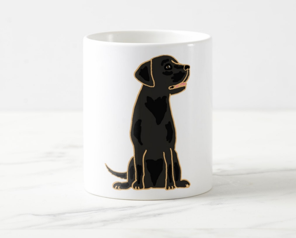 Love The Little Gold Accents You Can Choose Which Size Mug Want Too Awesome Black Labrador Retriever Design Coffee