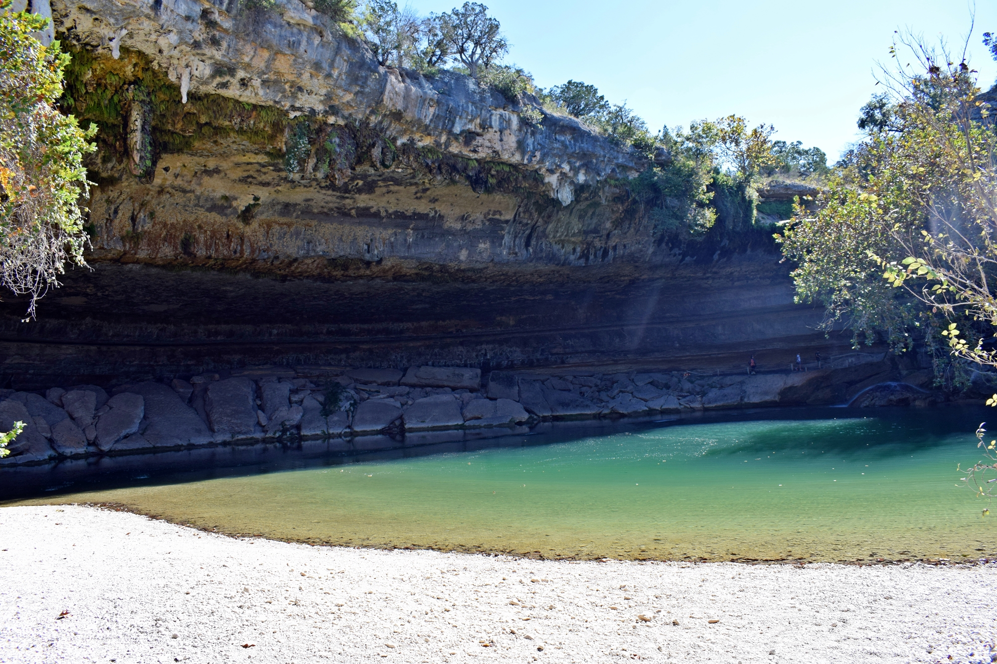 We spent the afternoon hiking to the waterfalls pool and grotto at Hamilton Pool Preserve Heres some great tips if you go